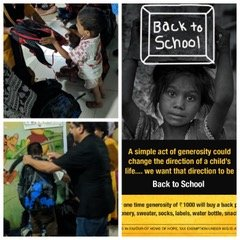 Giving Back Packs To Children